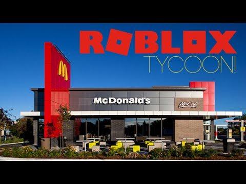 ROBLOX McDonalds Tycoon  SPEED BUILD  