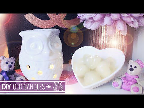 DIY ♡ Recycle Old Candles into Wax Melts ♡ Stefy Puglisevich