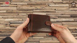 a23d4f0b0604 Férfi bőr pénztárca díszdobozban GreenDeed CY09 barna - Bőrpénztárca ...