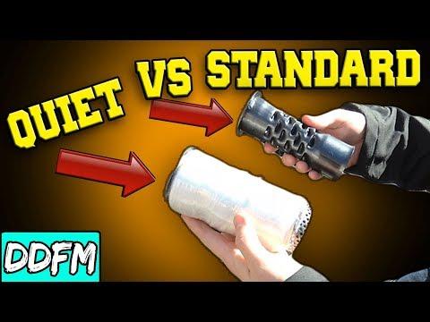 Quiet Baffle vs Standard Baffle / Vance and Hines Mini Grenades Sportster Exhaust