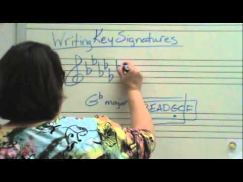 Writing Key Signatures (Flats)