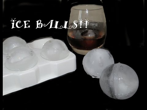 ICE BALLS MOULD How to Make Round Balls of Ice very Easy DIY