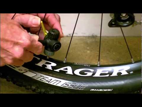 How to Inflate a Presta Valve Tube.