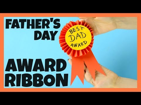 Award Ribbon Father's Day Craft for Kids