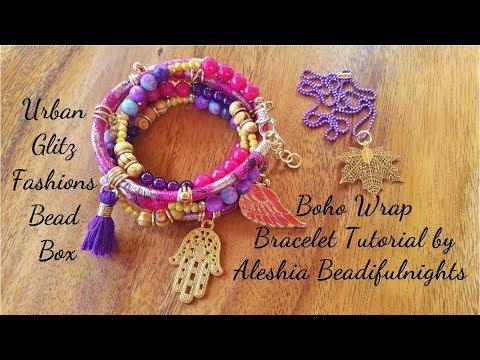 Urban Glitz Fashions Bead Box Boho Wrap Bracelet Tutorial