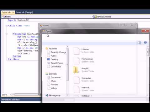 Visual Basic .Net - Create a Text Editor