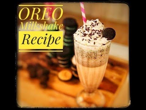 How to make Oreo Milkshake | Homemade Oreo Vanilla Ice Cream Milkshake recipe