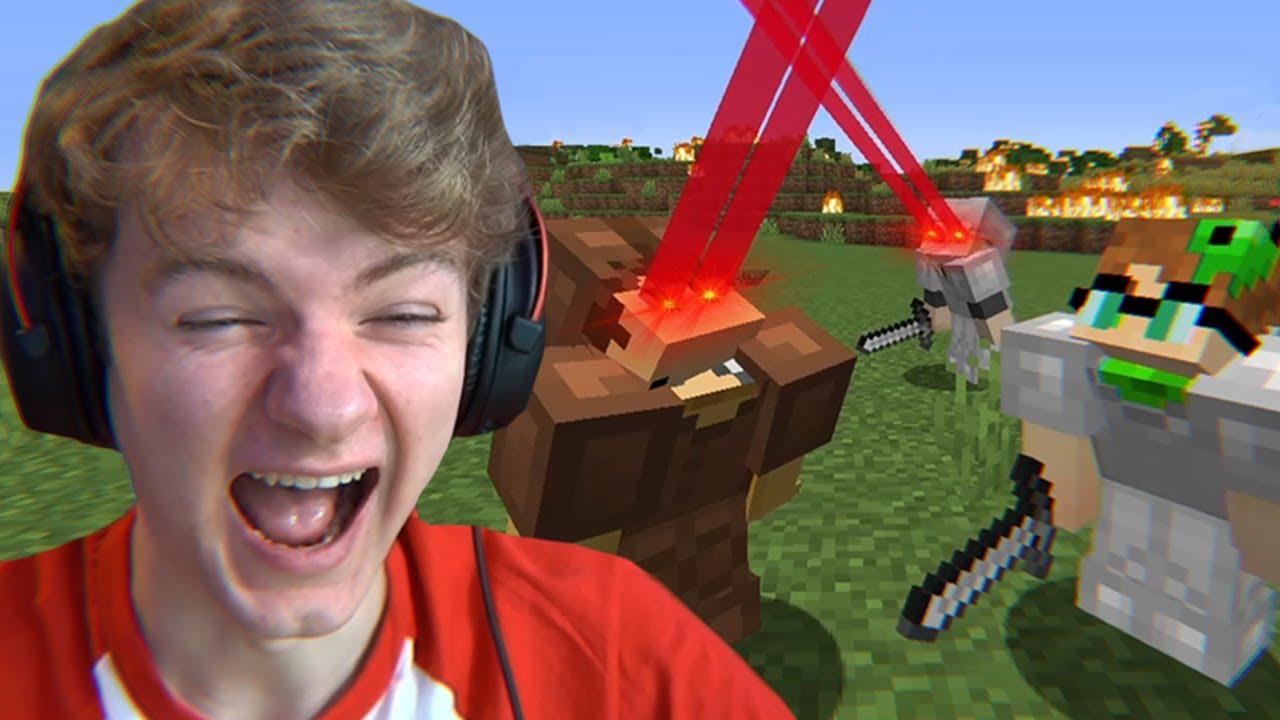 Minecraft's Laser Eye Mod Is Hilarious