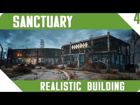 FALLOUT 4 | Sanctuary | Realistic Building | All DLC | Part 4