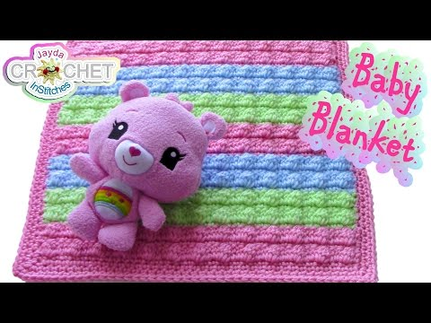 Crochet Bobble Stitch Baby Blanket Pattern