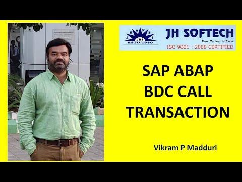 SAP ABAP BDC CALL TRANSACTION
