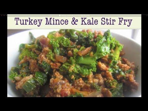 Turkey Mince and Kale Stir Fry (Healthy Recipe)