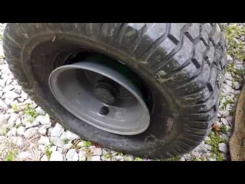 fixing a lawn mower tire that popped off the wheel
