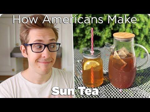 How Americans Make Tea (Sun Tea / Iced Tea)