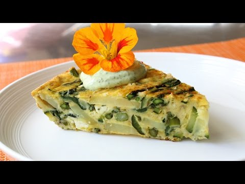 Spring Vegetable Frittata Recipe - How to Make a Baked Frittata