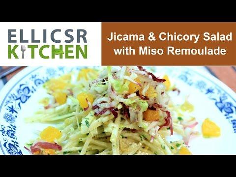 Jicama & Chicory Salad with Miso Remoulade