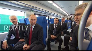 Russia: Putin takes inaugural ride on Moscow Ring Railway