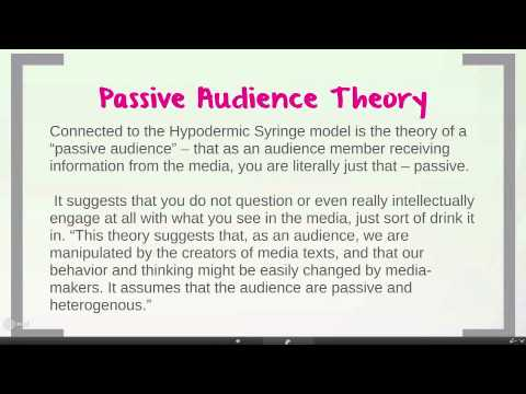 The hypodermic syringe theory & passive audience theory