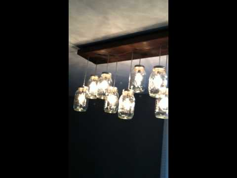 Finished Chandelier on dimmer switch