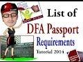 List of Dfa Passport Requirement Video Tutorial ( 2014 )