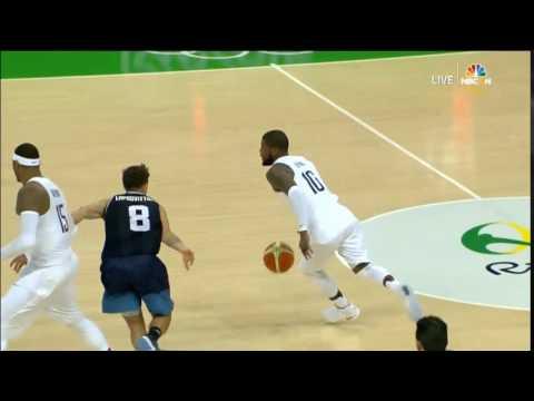 kyrie irving killer cross!!!! USA VS Argentina.