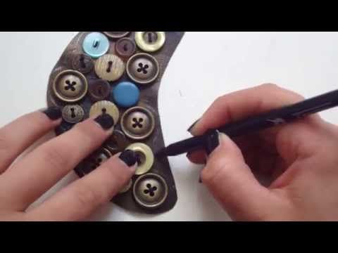 DIY- How to Make a Button Necklace.