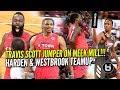 James Harden Russell Westbrook TEAM UP VS Travis Scott Demar DeRozan