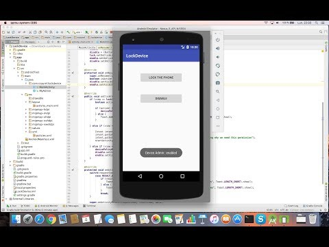 Create a Lock Screen Device App with Android Studio
