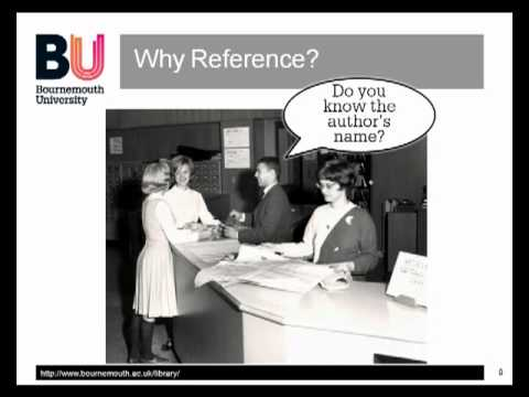 Referencing Bites: Why Reference?