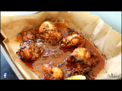 Honey Roast Chicken In Oven Jamaican Cooking | Recipes By Chef Ricardo