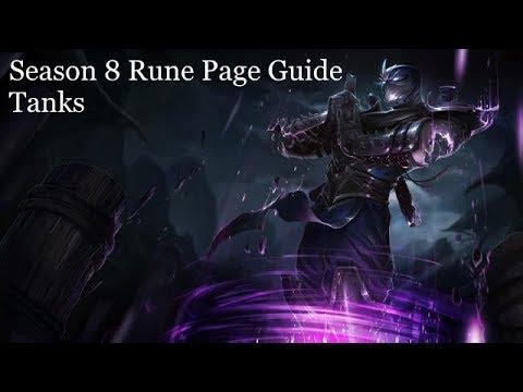 League Of Legends - Season 8 - Shen(Similar Tanks) Rune Page Guide