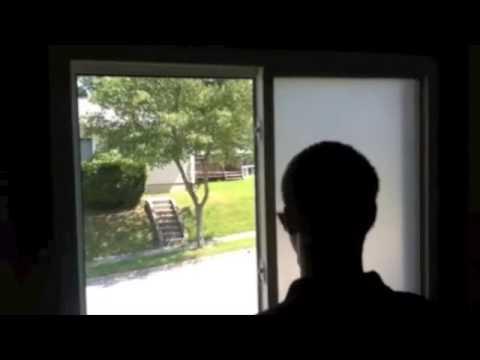 White Frost Bathroom Window Film by Tint Pros