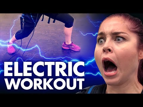 We Tried the Electric Shock Workout!? (Get Jacked)