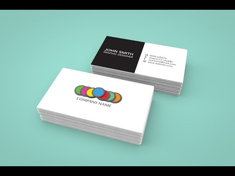 How to create a business card in Adobe Indesign and 3d mockup in Photoshop