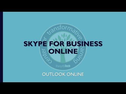 Skype for Business Online- Outlook Online
