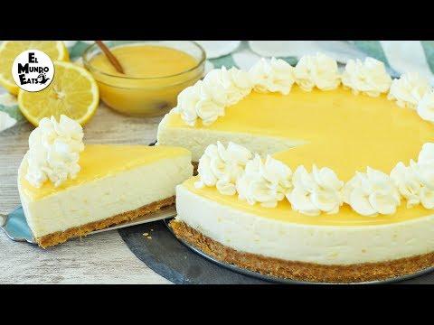 No-Bake Lemon Cheesecake | El Mundo Eats recipe #218