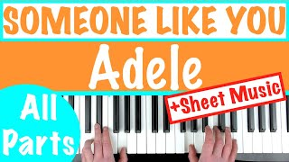 How To Play Someone Like You By Adele  Easy Piano Chords Tutorial