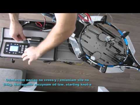 How to string a Tennis Racquet - Babolat Pure Drive GT na Gamma 8800 ELS