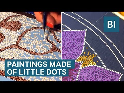 This Artist Spends Hundreds Of Hours Creating Paintings Made From Thousands Of Tiny Dots