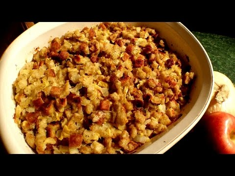 How To Make Apple Stuffing! - Stuffing Recipe - Collab w\ Joeysworldtour
