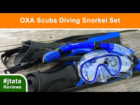 Scuba Diving Snorkel Set by OXA - Blue, S/M
