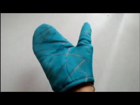How To Make Microwave Glove / Oven Mitts : Easy DIY  & sew heat resistant slip on kitchen oven mitts
