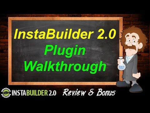 InstaBuilder 2.0 Review & Bonus - Plugin Walkthrough - InstaBuilder Review