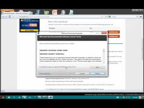 Install Microsoft Security Essentials on Windows 8 Developer Preview