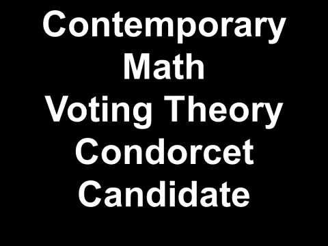 Contemporary Math Voting Theory Condorcet Candidate