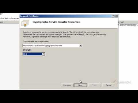 How to generate CSR for Wildcard SSL certifcate on IIS 7