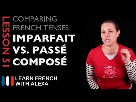 French Imperfect Tense VS Passé Composé Tense