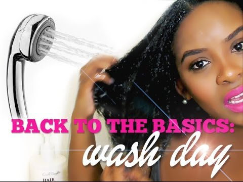 NATURAL HAIR | BACK TO THE BASICS | MY SHOWER CO-WASH