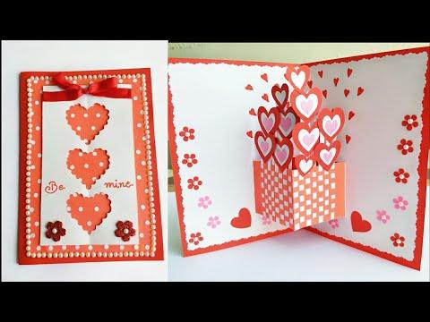 DIY Valentine Pop Up Card/How to make Pop Up Card for Valentine