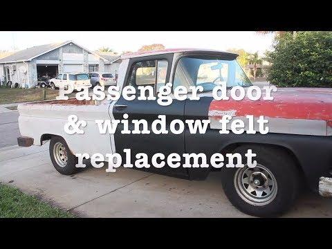 3. Passenger door & window felt replacement | 1961 Chevy Apache Restoration